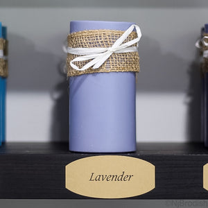 "6"" by 3"" Lavender Scented, Purple Colored Soy Large Pillar Candle, 22.1 oz."