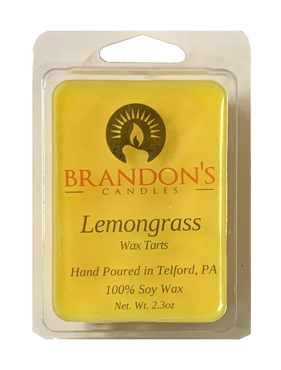 Lemongrass Scented, Yellow Colored Soy Wax Tart, 2.3 oz
