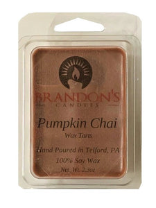 Pumpkin Chai Scented, Brown Colored Soy Wax Tart, 2.3 oz