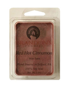 Red Hot Cinnamon Scented, Red Colored Soy Wax Tart, 2.3 oz