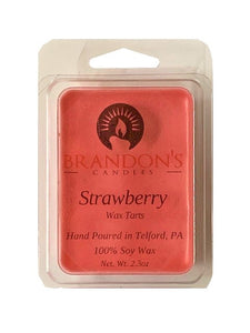 Strawberry Scented, Red Colored Soy Wax Tart, 2.3 oz