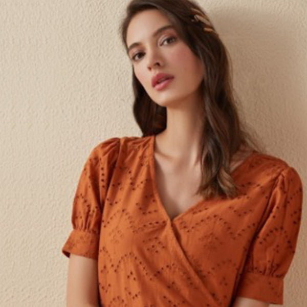 Orange LOV Top For Women