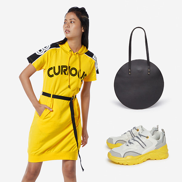 StudioFit Yellow Dress For Women
