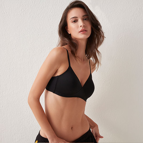 Padded Black Bra By WunderLove