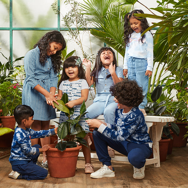 Blue Tie And Dye Kids Wear By HOP and Y&F