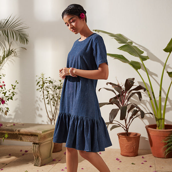 Blue Dress For Womens By Bombay Paisley