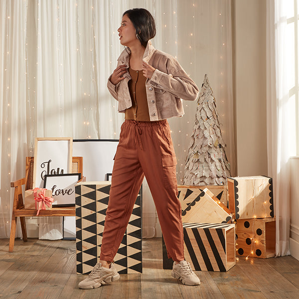 Brown Winter Look For Women By NUON