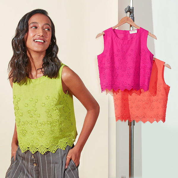 Sleevless Crop Tops By Bombay Paisley