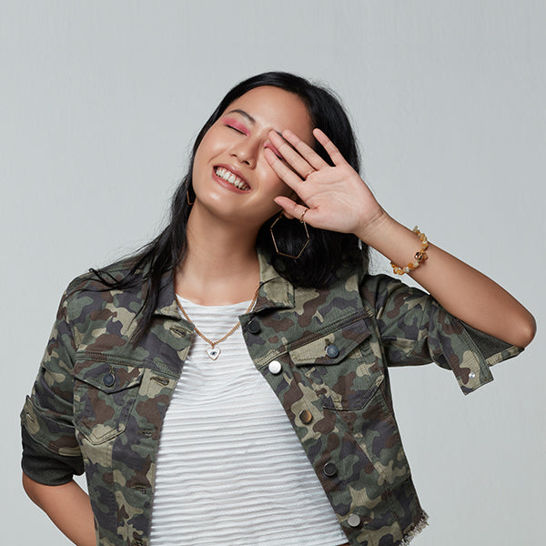Nuon women and Studiofit Cropped Camo Jacket By Westside