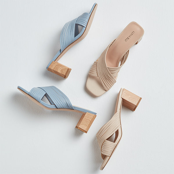 Blue Crossover Heels By Westside Luna Blu