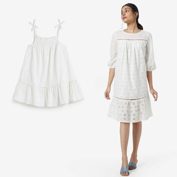 White Dress By HOP And LOV