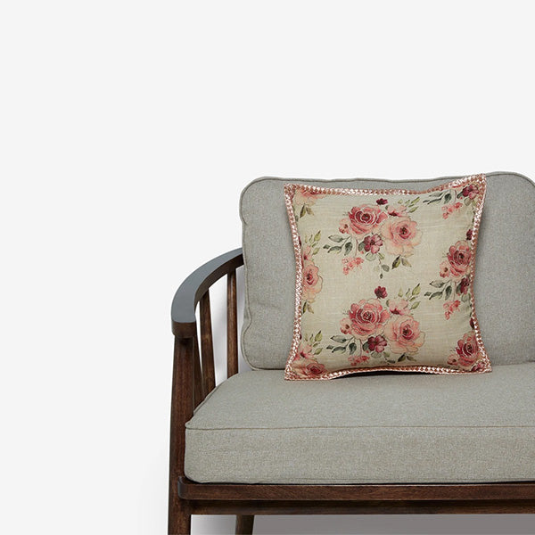 Floral Embroidered Cushion Cover By Westside