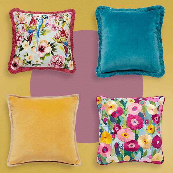 Floral Covers For Cushions