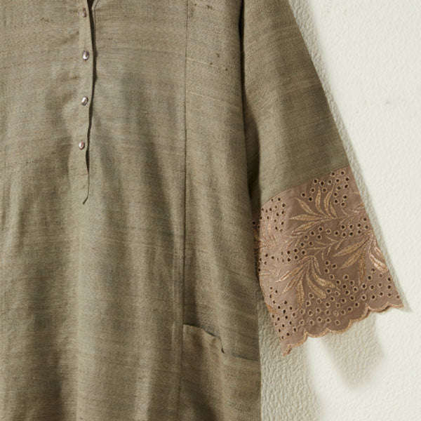 Green Embroidered Ethnic Wear By Zuba