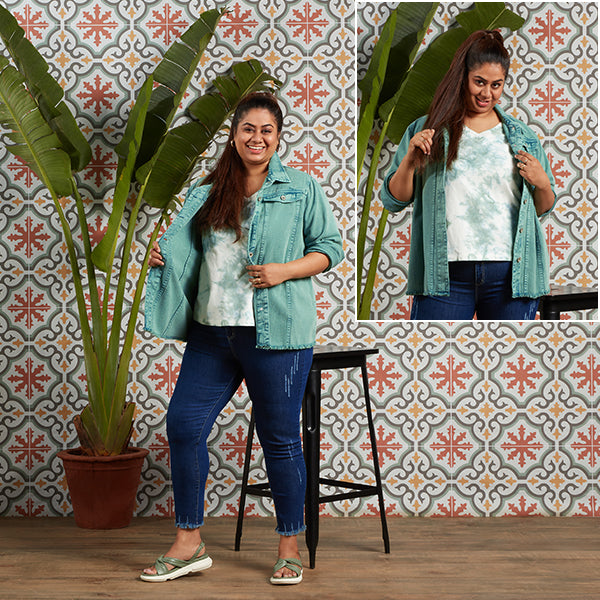 Green Tie And Dye Top For Women By Sassy Soda