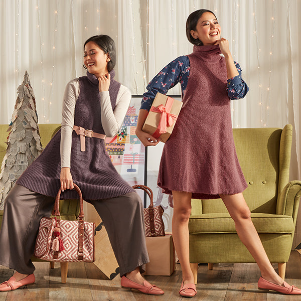 High Neck Sweaters By Bombay Paisley For Women