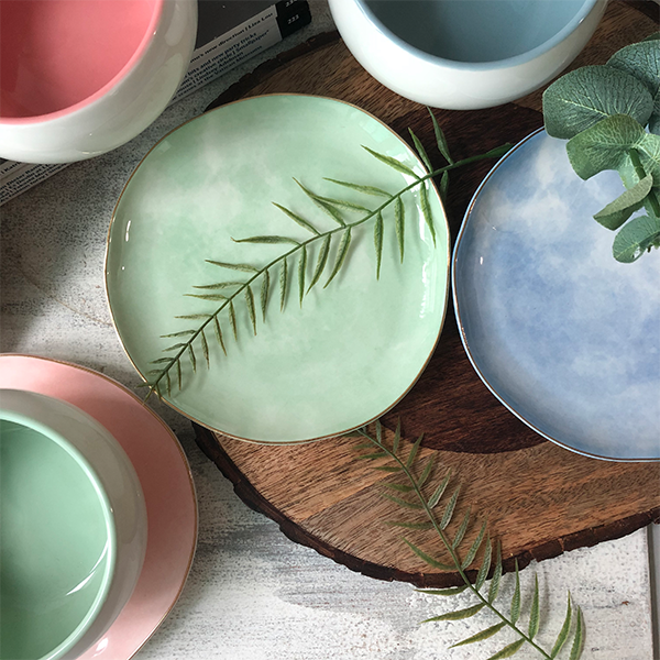 Pastel Ceramic Plates By Westside Home