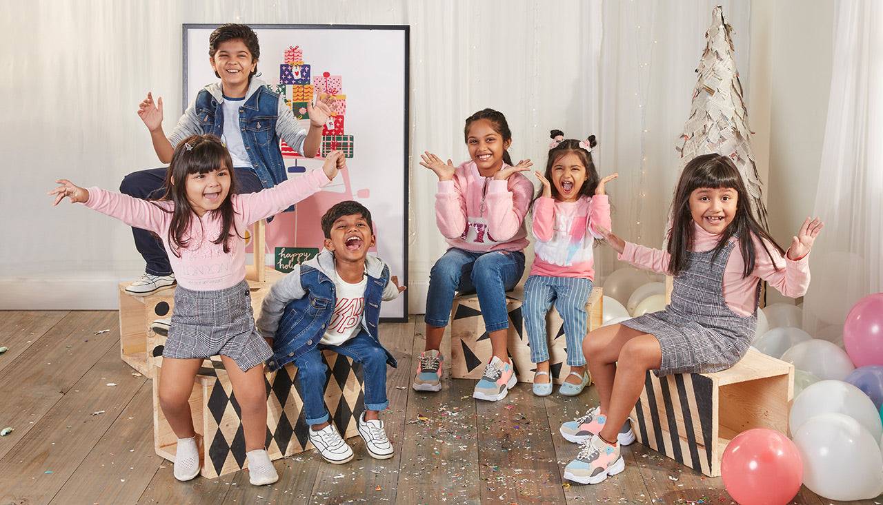 Pink And Blue Partywear For Kids By Westside