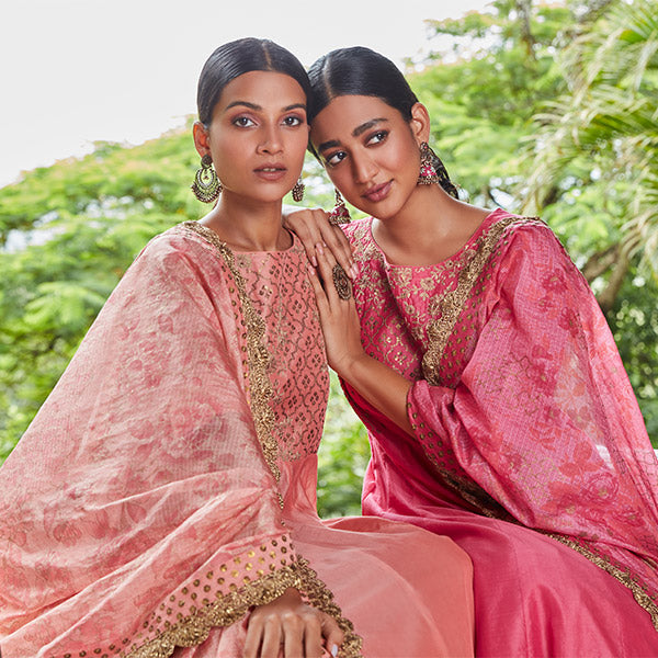 Pink Ethnic Suits By Vark