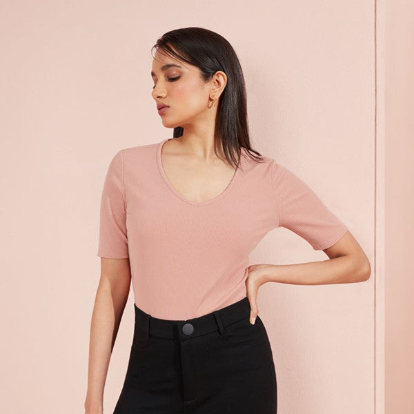 Ribbed Top For Women By Wardrobe