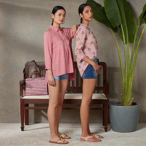 Pink Shirts For Women By Bombay Paisley