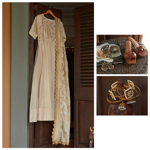 Womens White Ethnic Suits By Vark