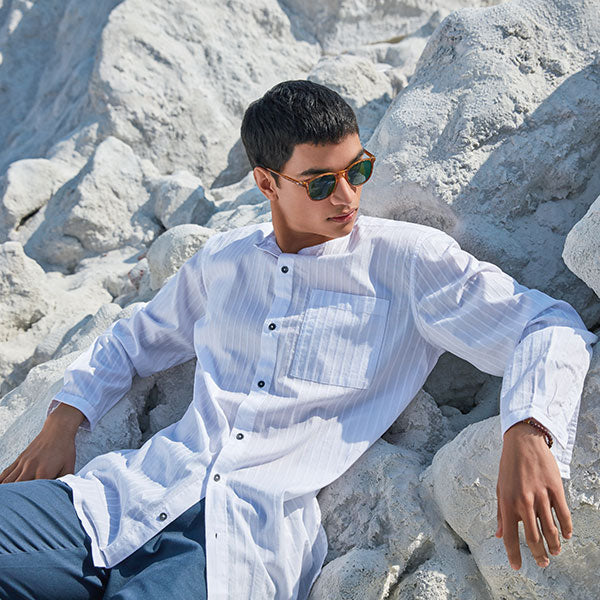 Mens White Tunic By ETA