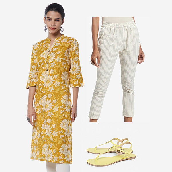 Yellow Utsa Kurtas