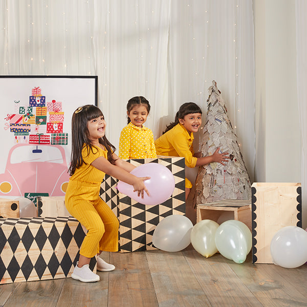 Yellow Partywear For Girls By Y&F