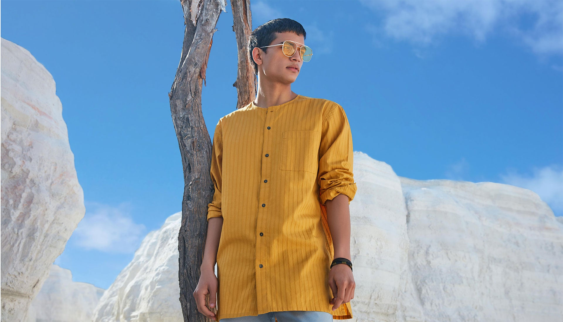 Mens Yellow Tunic By ETA