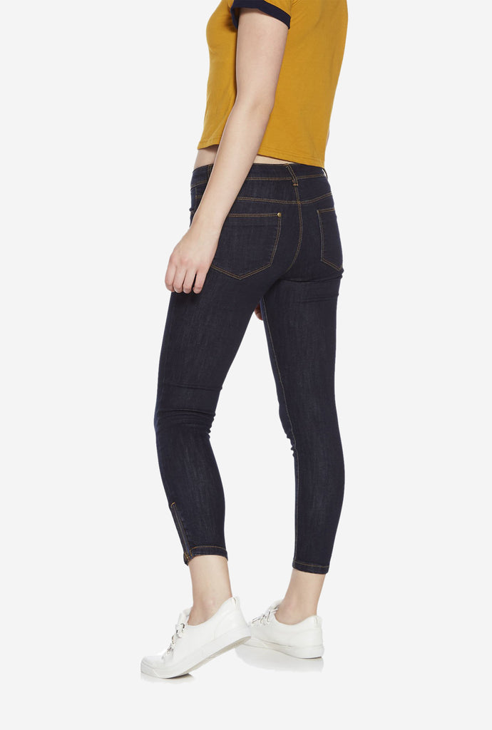 Nuon Dark Blue Cropped Jeans