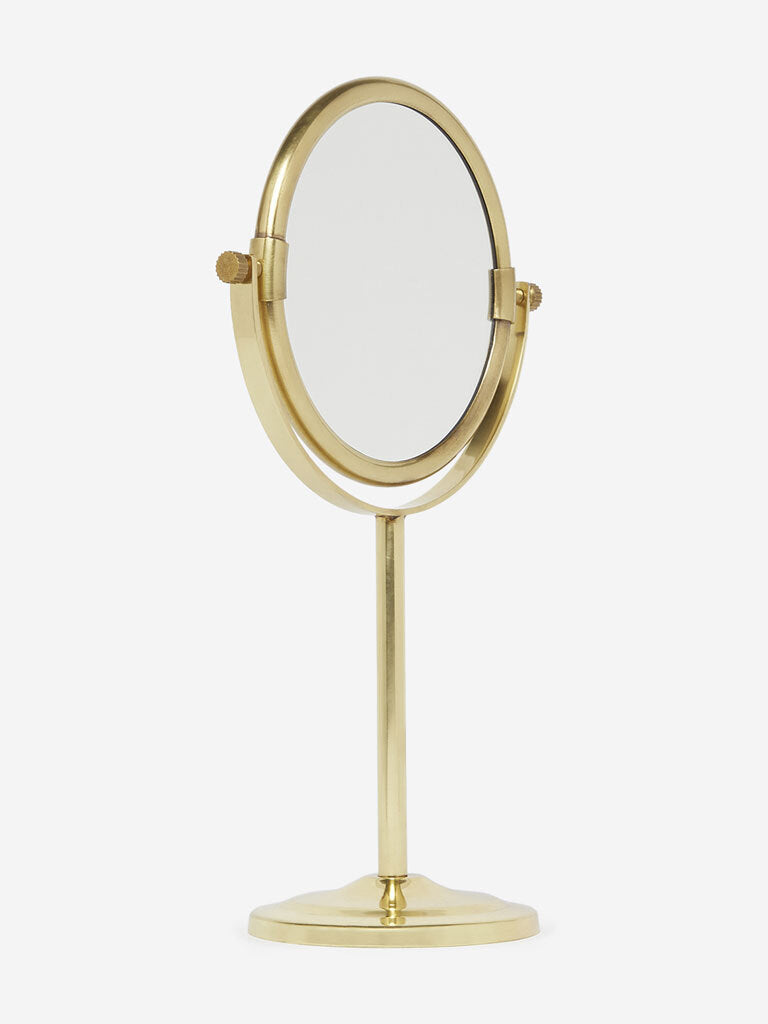 Westside Home Gold Pedestal Mirror