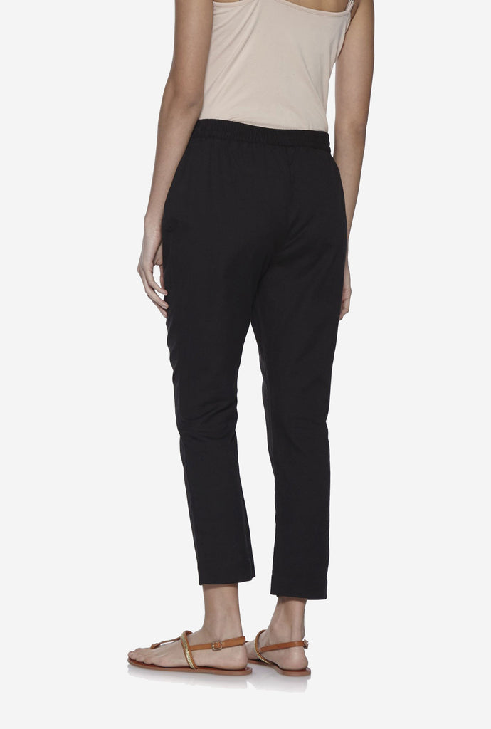 Utsa Black Slim Fit Ethnic Pants