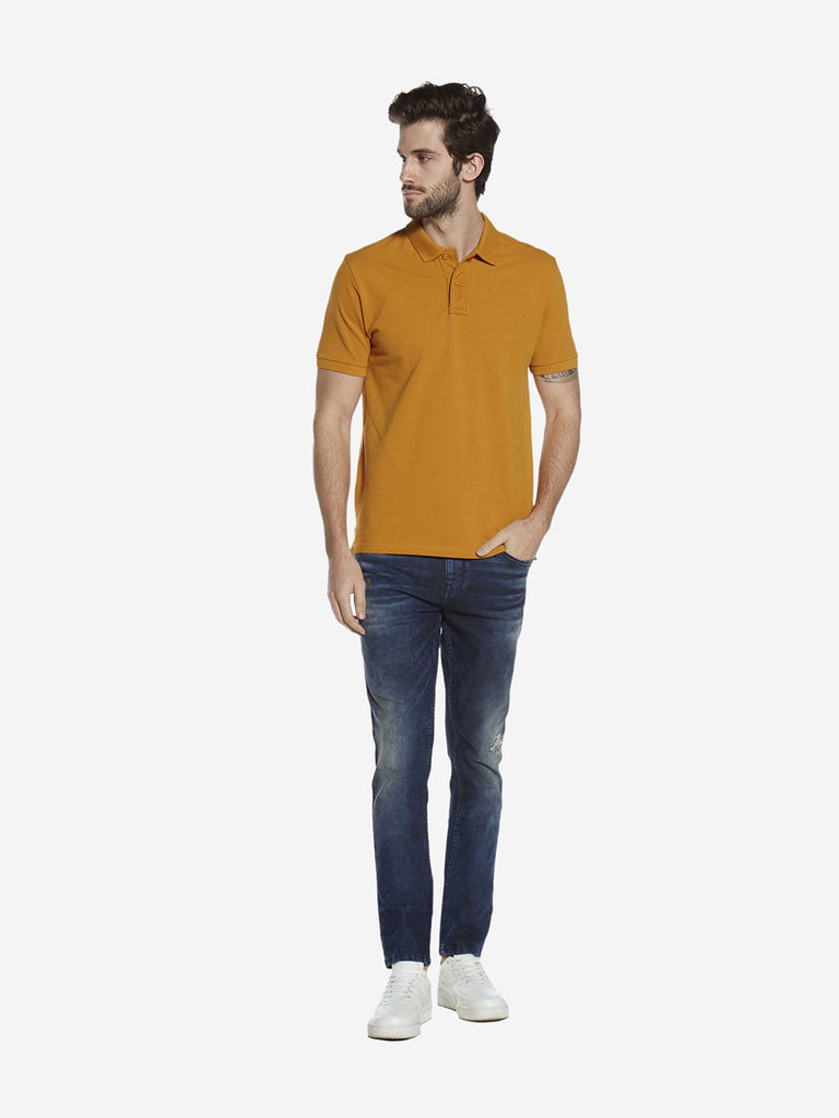Westsport Mustard Slim Fit Polo T-Shirt
