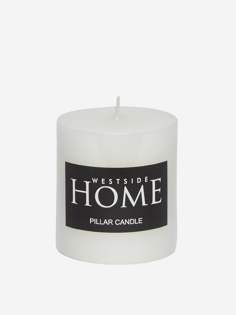 Westside Home White Short Pillar Candle