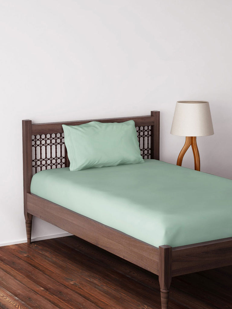 Westside Home Mint Bed Sheet with Pillowcase Set