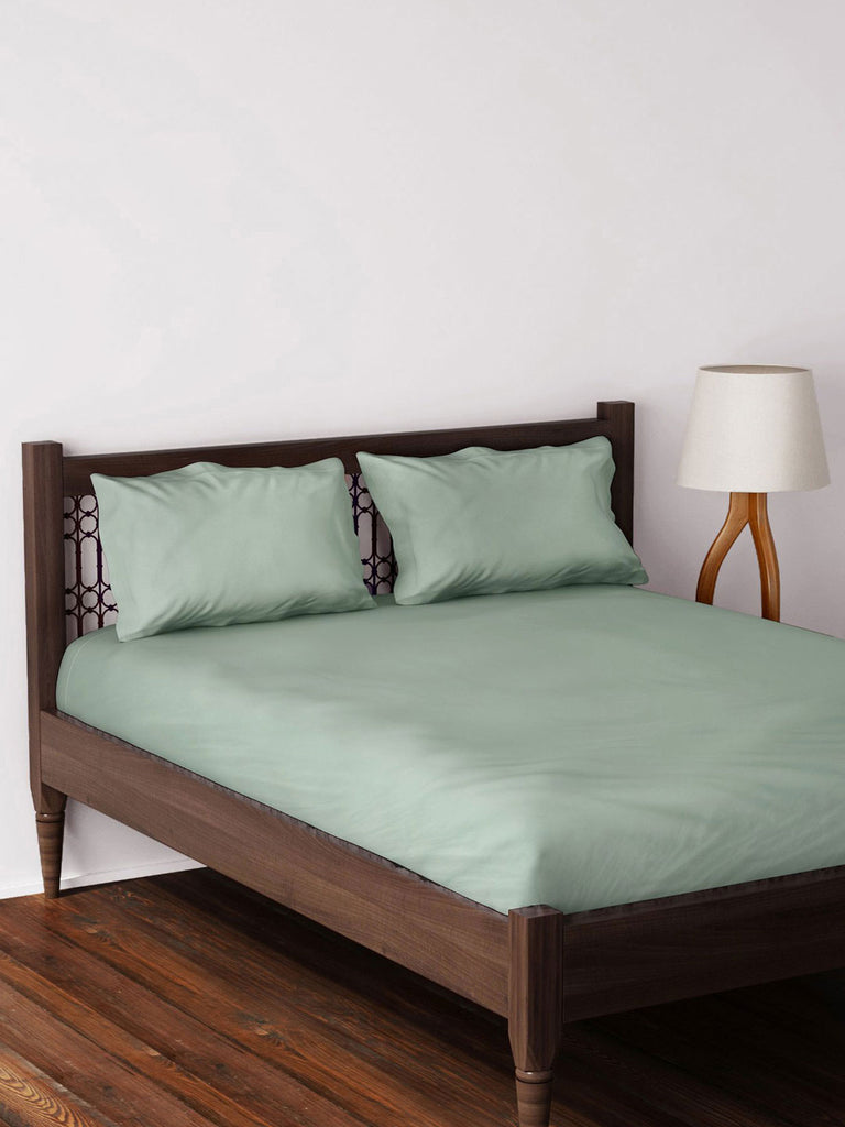 Westside Home Mint Bed Sheet with Two Pillowcases