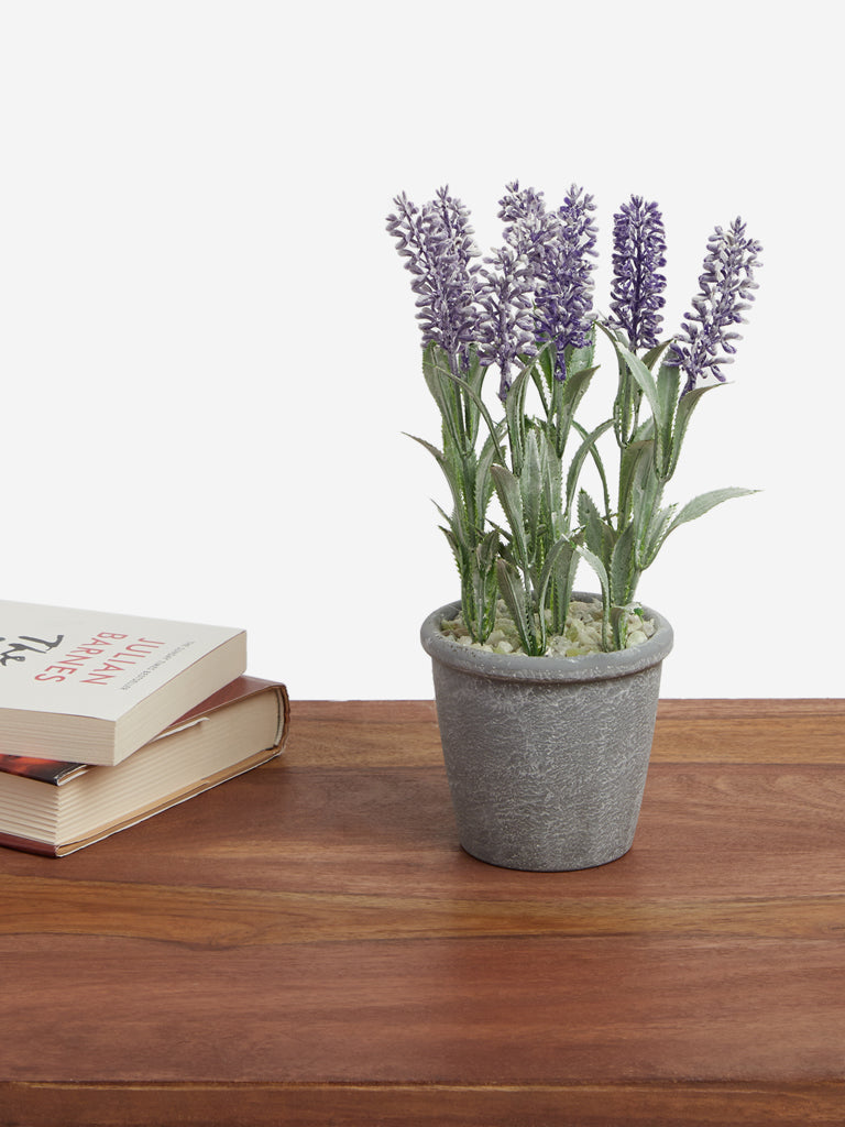 Westside Home Purple Artificial Lavender Plant
