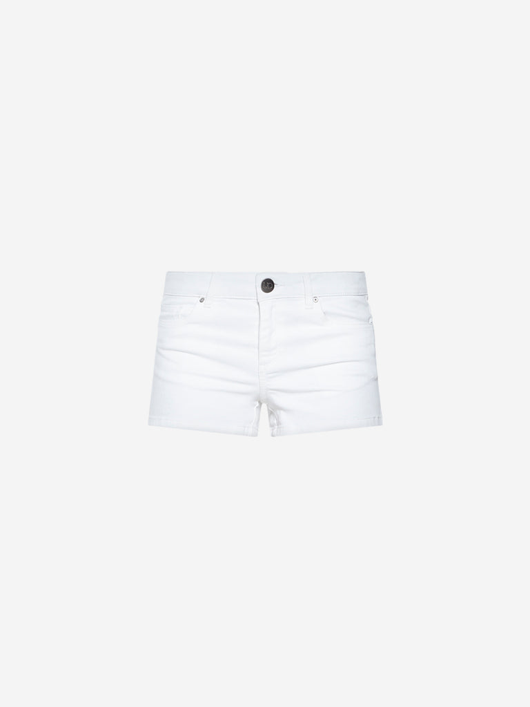 Nuon White Denim Shorts