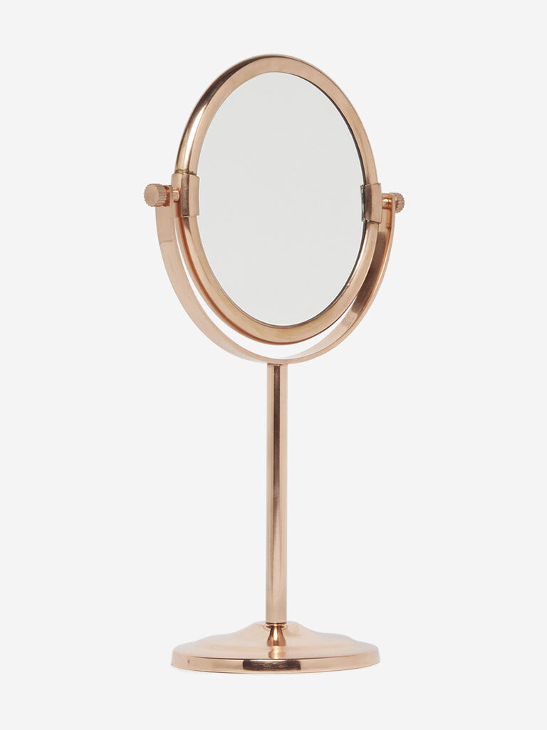 Westside Home Rose Gold Pedestal Mirror