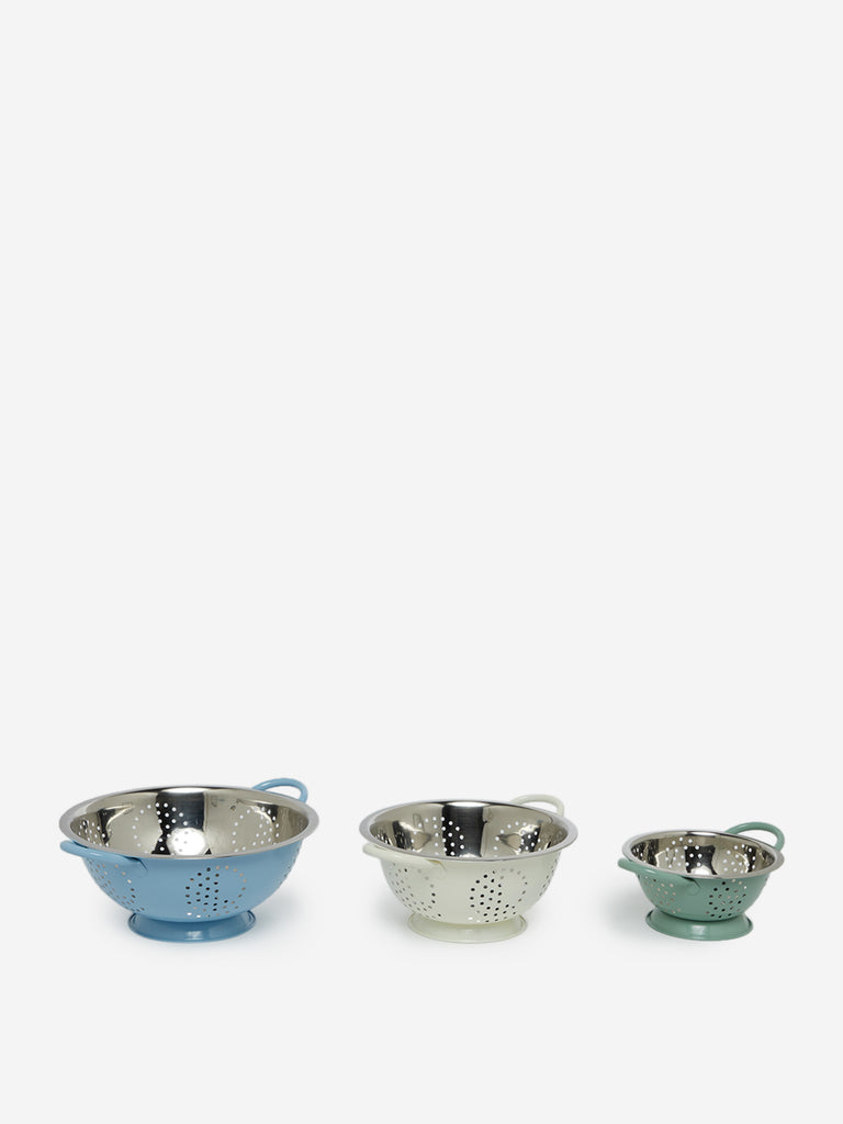 Westside Home Multicolour Pastel Colanders Set of Three