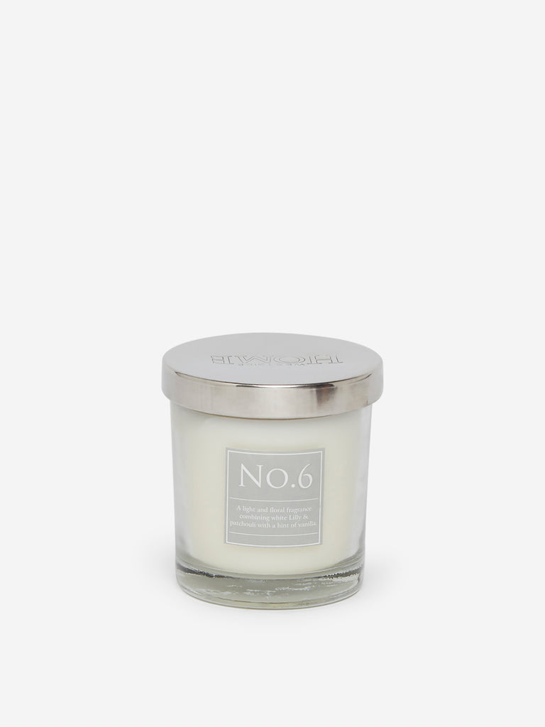 Westside Home White No.6 Short Scented Candle