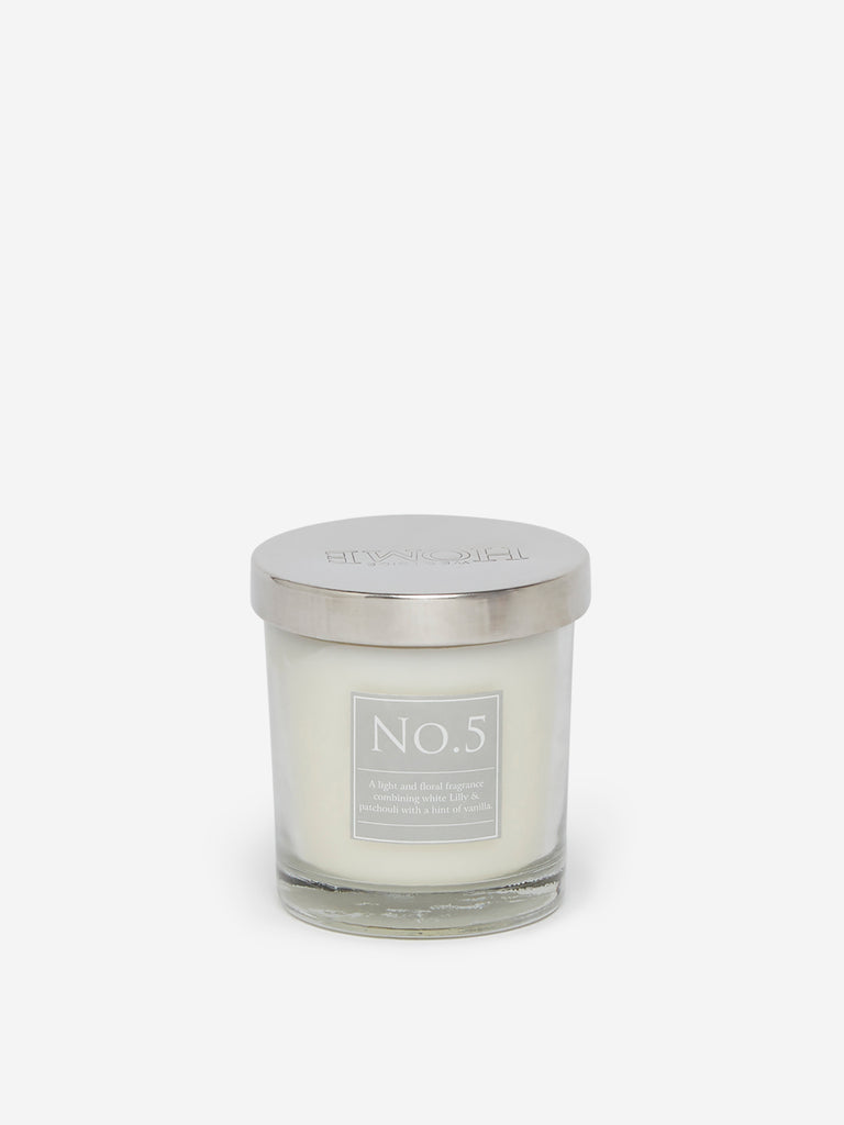 Westside Home White No.5 Short Scented Candle