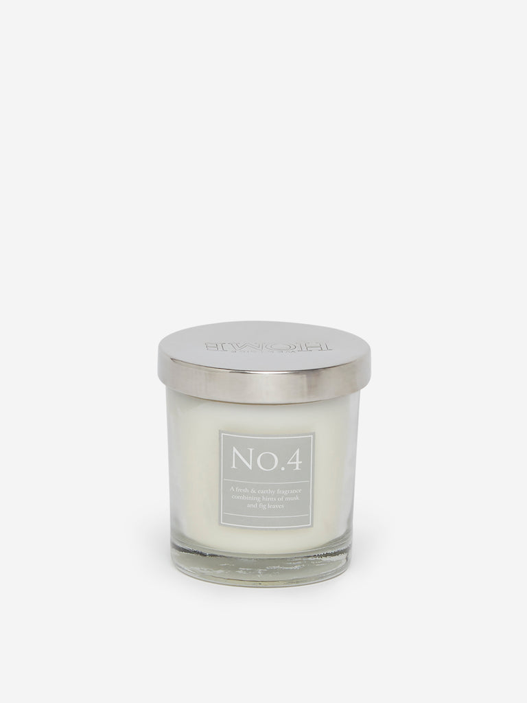 Westside Home White No.4 Short Scented Candle