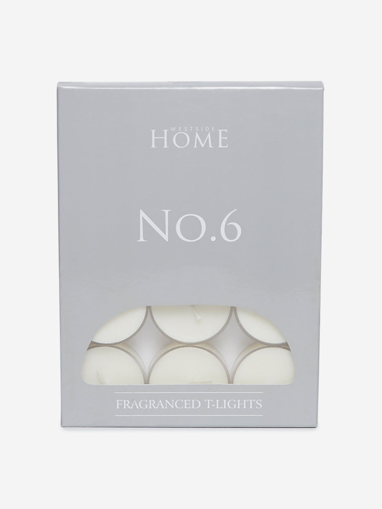 Westside Home White No.6 Fragranced Tea-Light Candles Set of Twelve