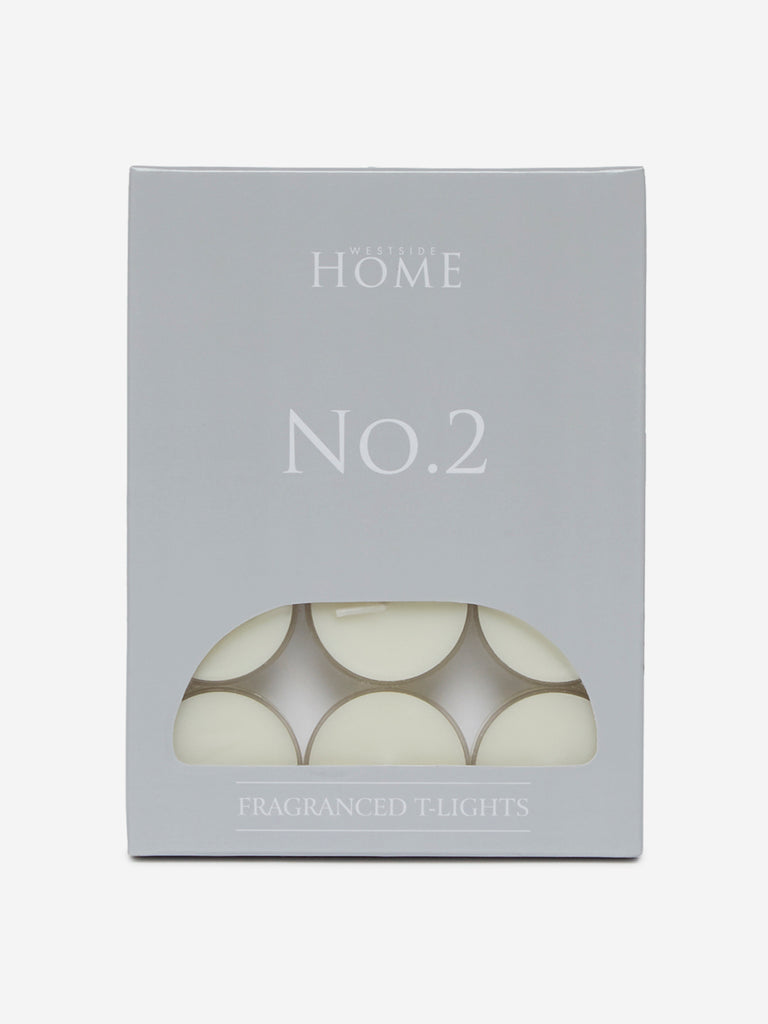 Westside Home White No.2 Fragranced Tea-Light Candles Set of Twelve