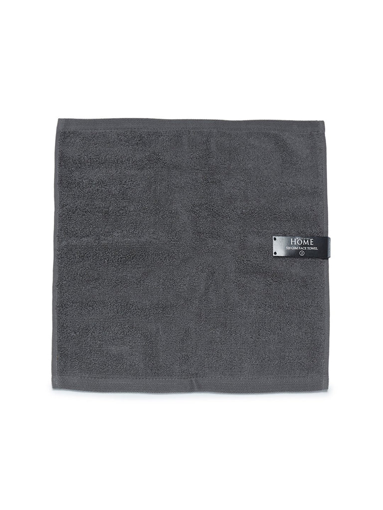 Westside Home Charcoal 520 GSM Face Towels Set Of Two