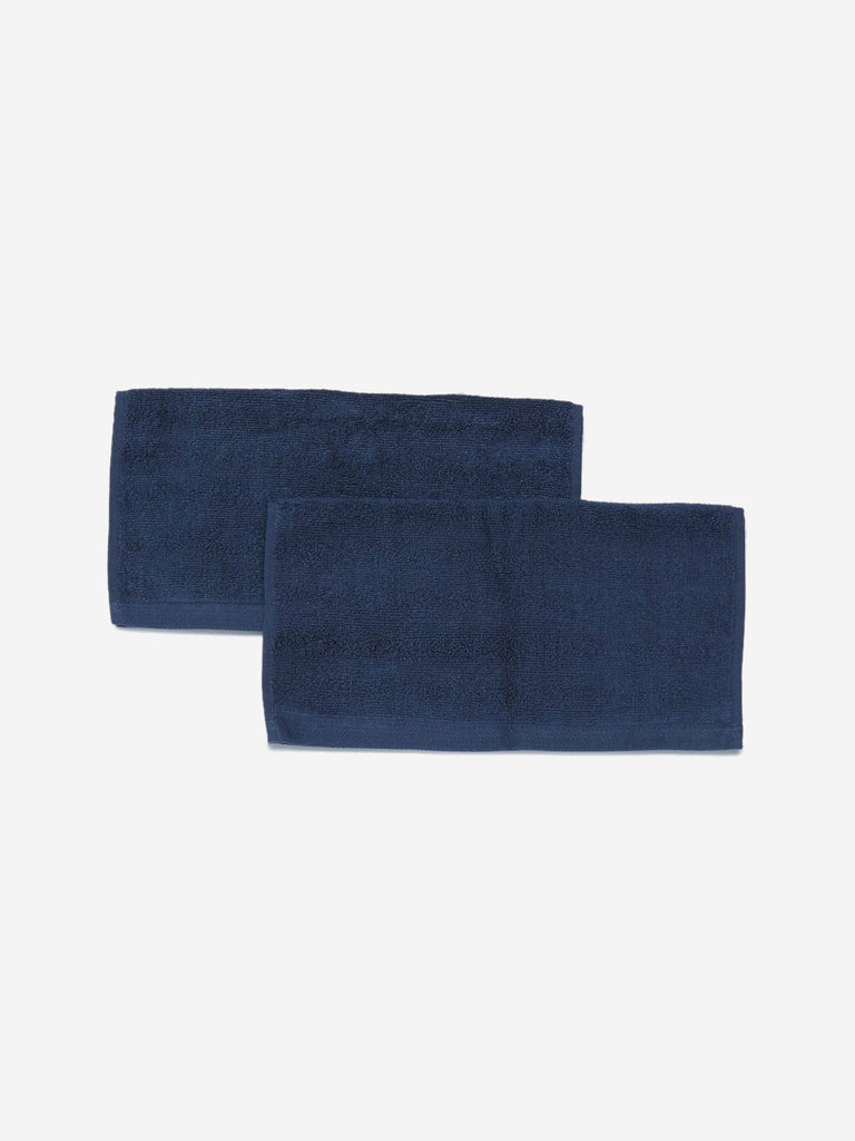 Westside Home Navy 520 GSM Face Towel Set Of Two
