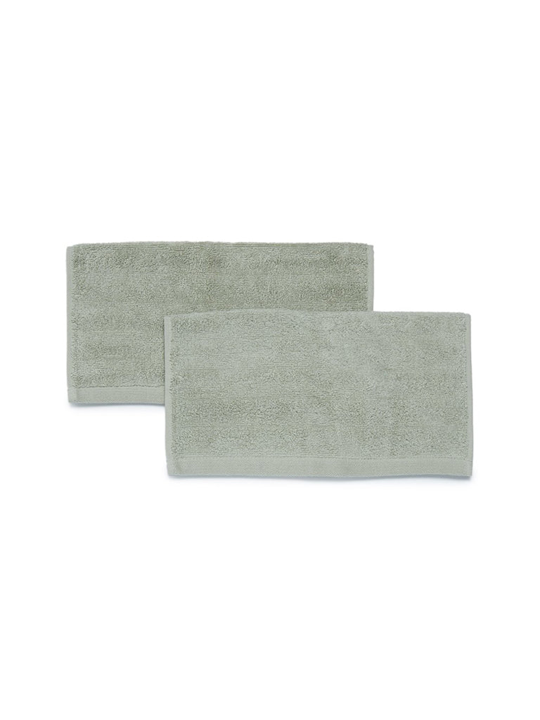 Westside Home Mint 520 GSM Face Towel Set Of Two