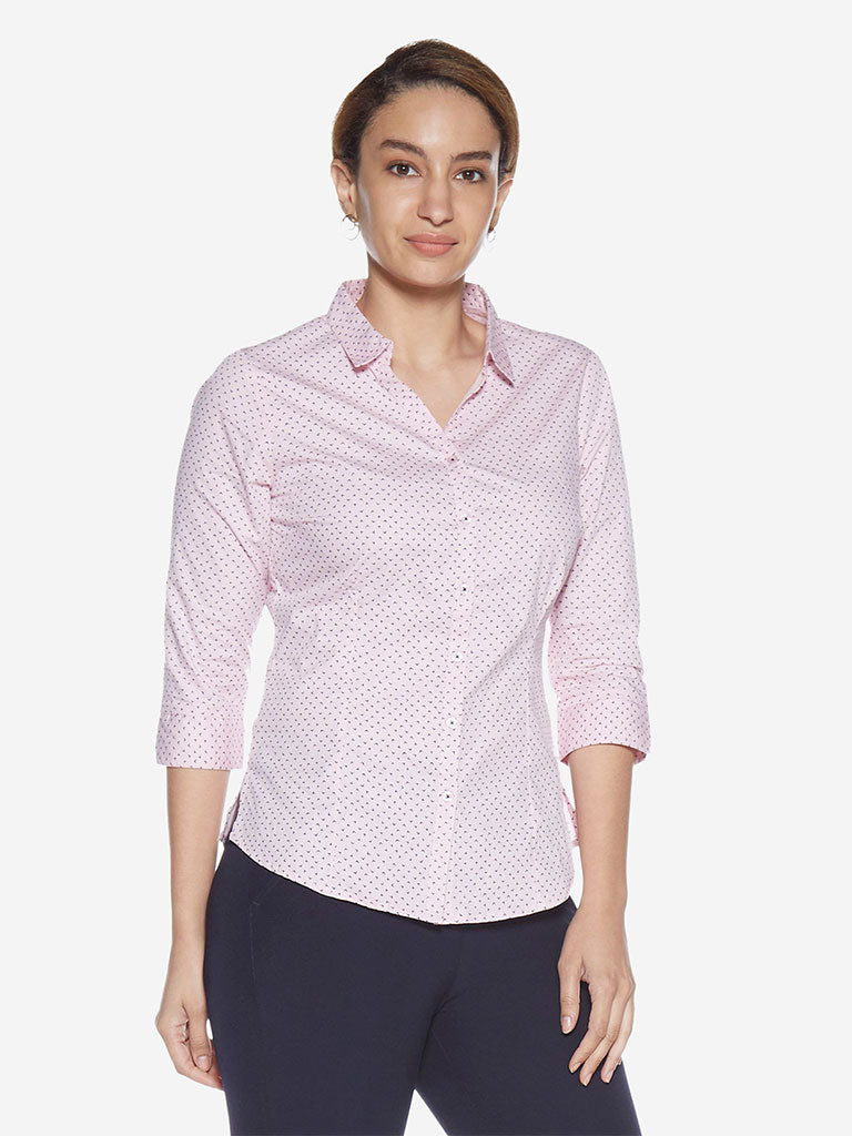 Wardrobe Light Pink Printed Lucy Shirt